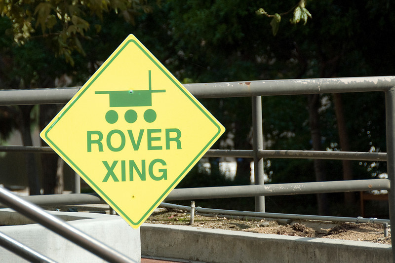 Rover crossing in JPL, California