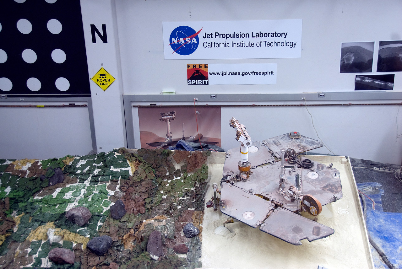 Model building inside Jet Propulsion Laboratory in California
