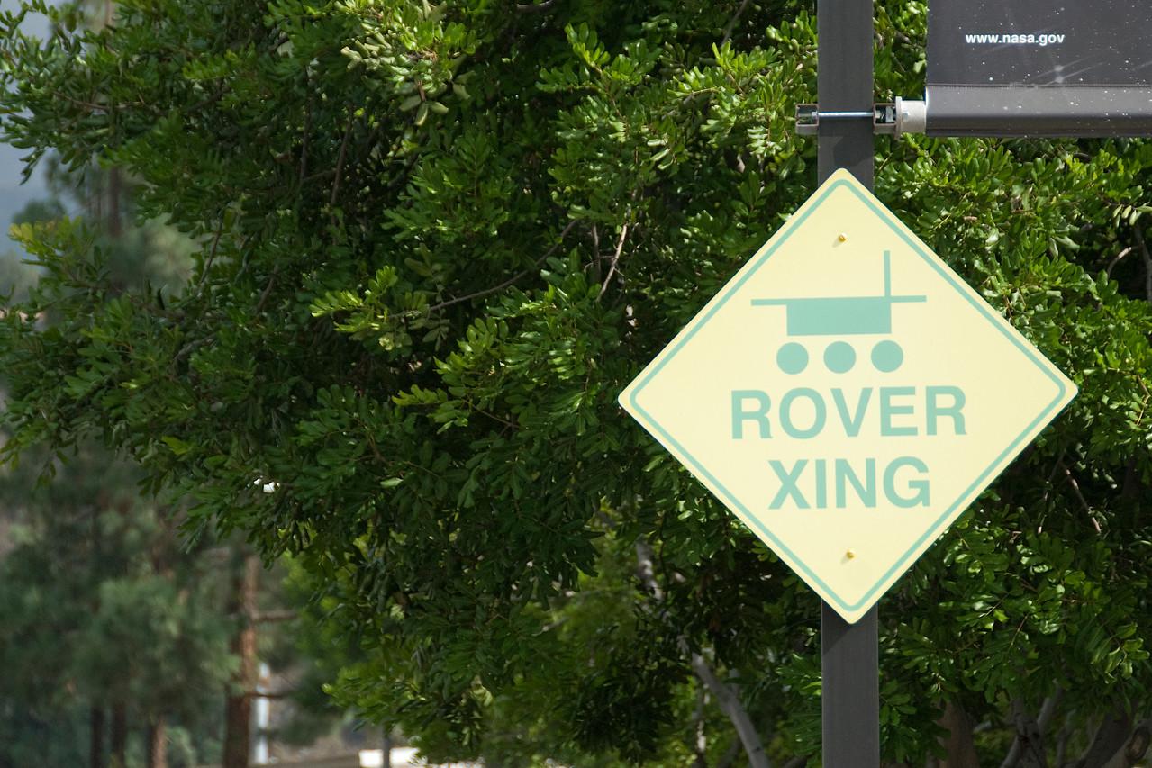 Rover crossing sign in JPL, California