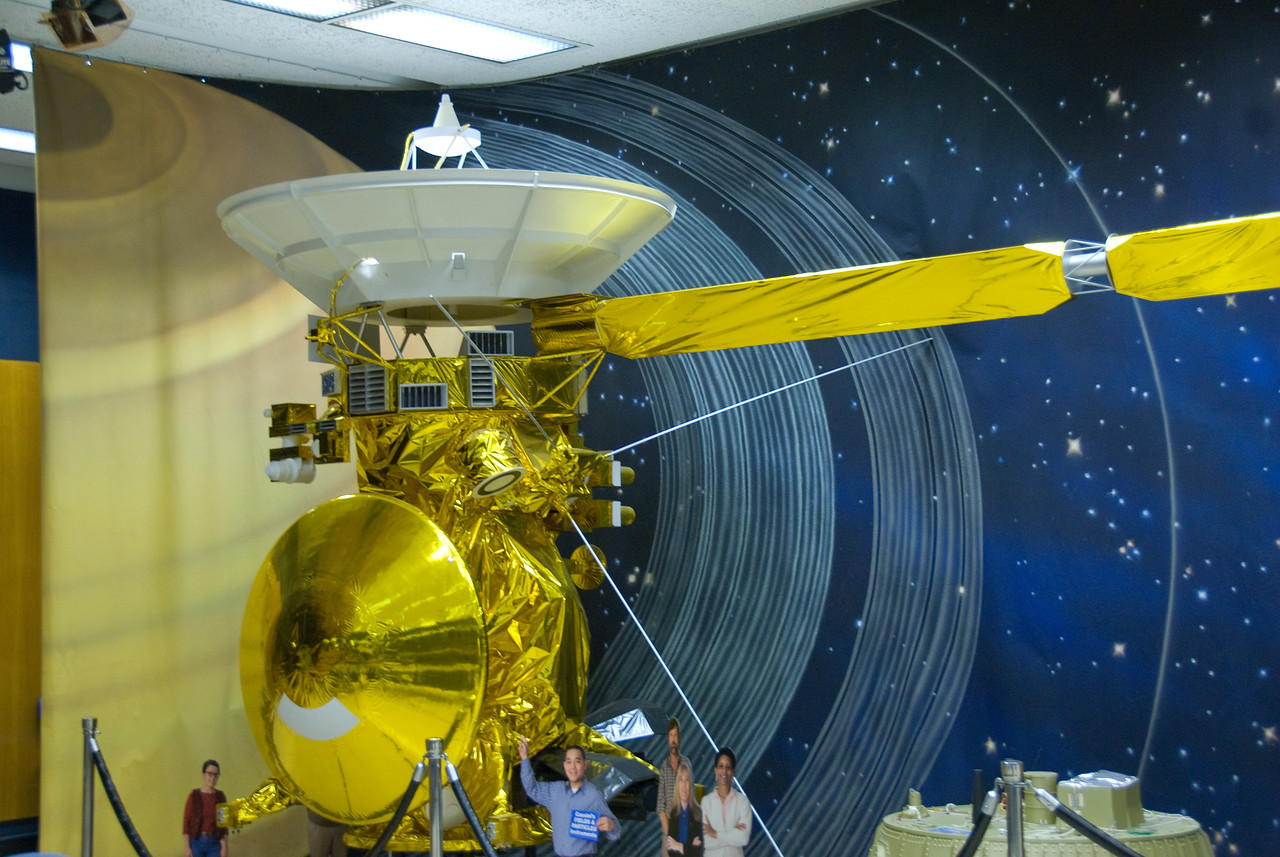 Spacecraft model in JPL, California