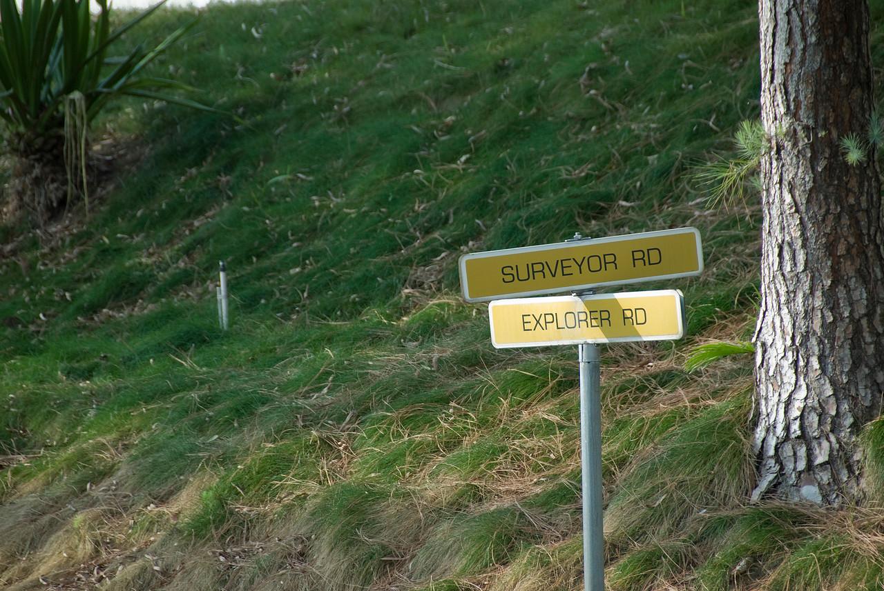 Road sign near Jet Propulsion Laboratory in California