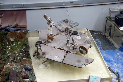 Model building inside Jet Propulsion Laboratory in California