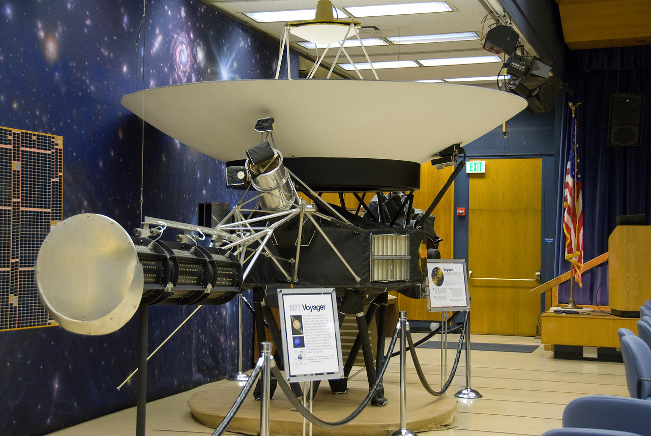 Voyager 1 spacecraft in JPL, California