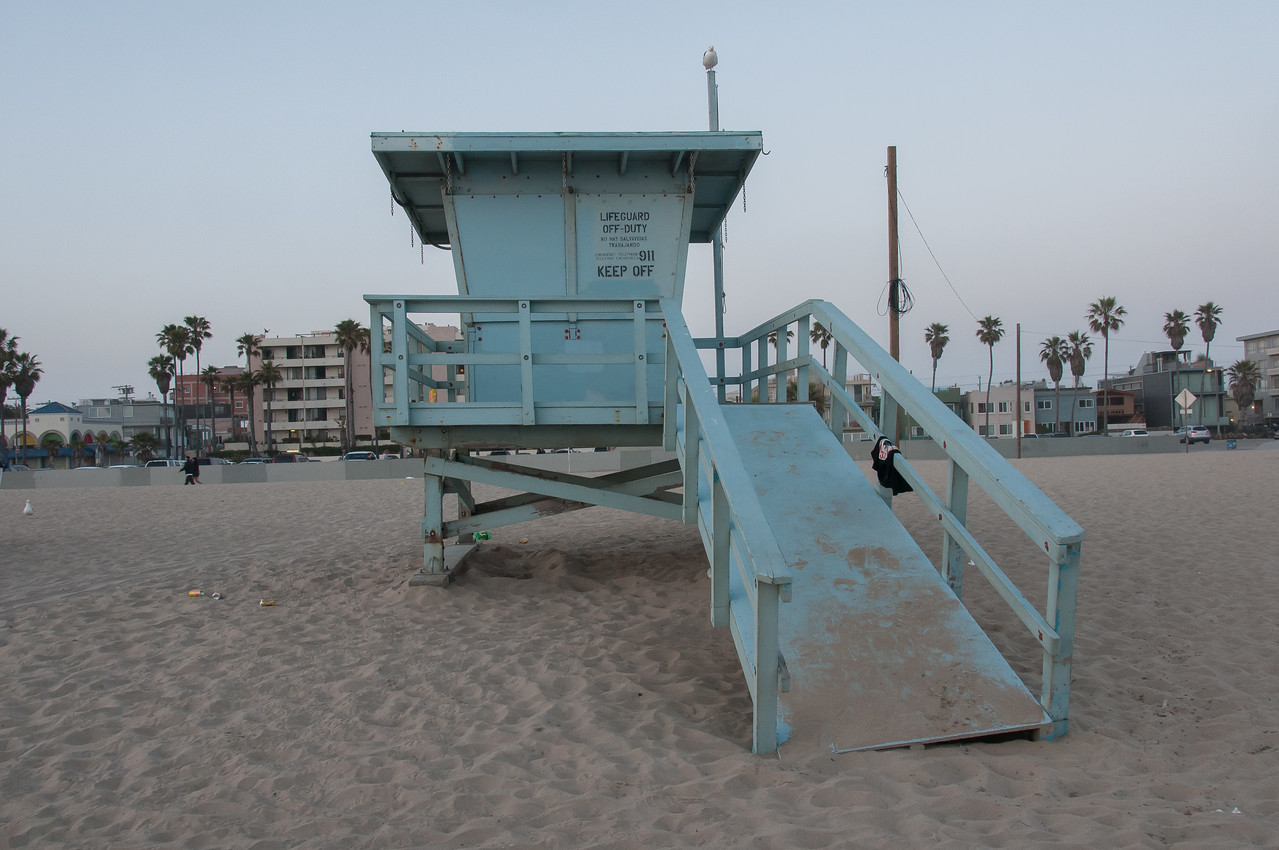 Lifeguard stand in Los Angeles, California