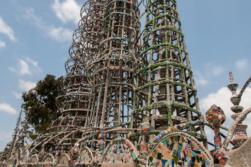 Watts Towers of Simon Rodia in Los Angeles, California