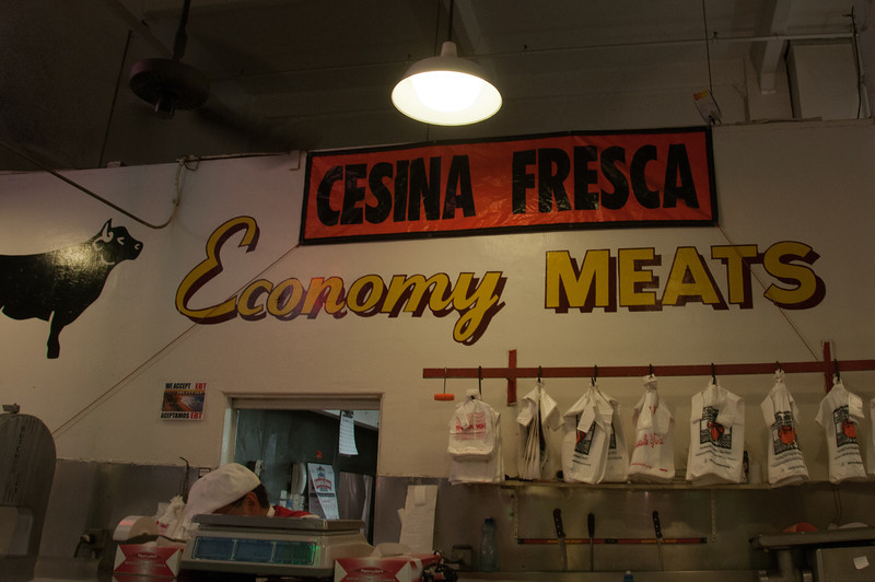 Inside local meat shop in Los Angeles, California