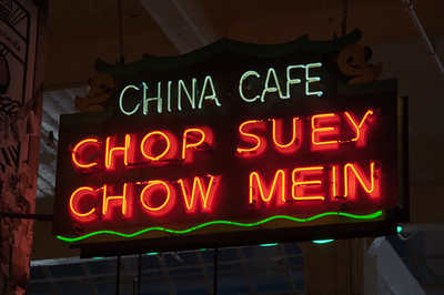 Asian restaurant in Chinatown in Los Angeles, California