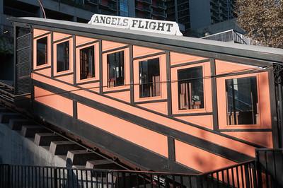 Angels Flight Railway in Los Angeles, California