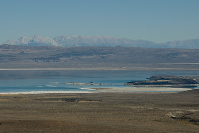 Panorama of Mono Lake in Mono County, California