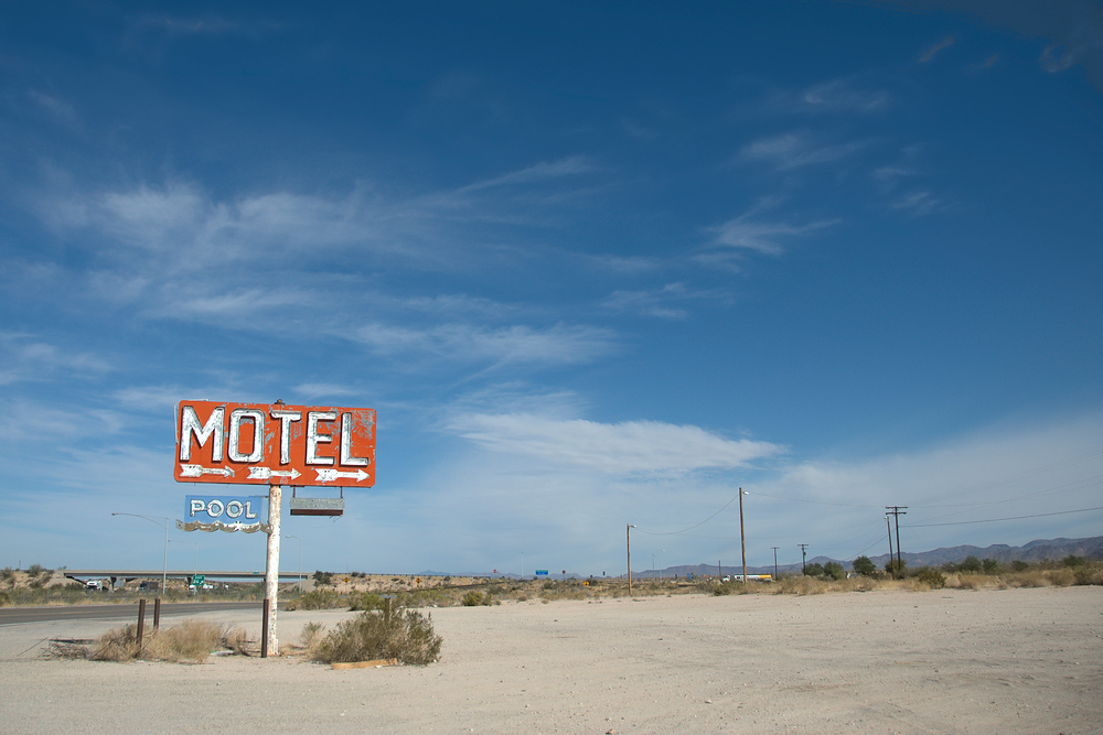 Motel Sign Off Route 66, California