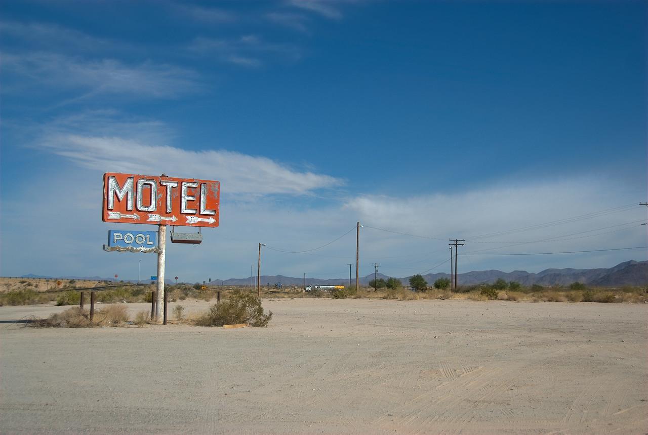 Motel along Route 66 in California, USA