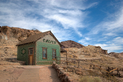 House Made of Bottles in the Route 66 Ghost Town of Calico, California