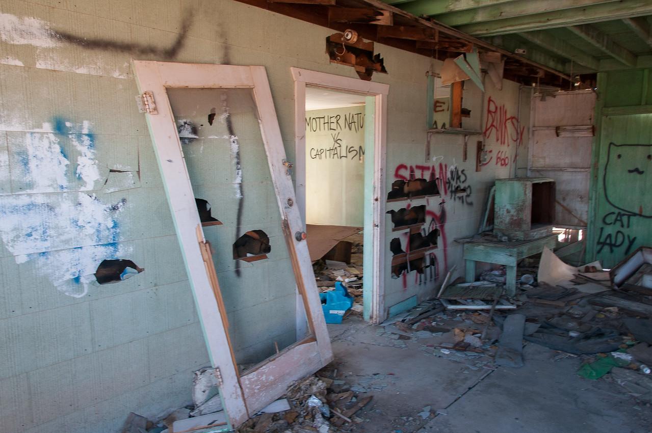 Torn down structure near Salton Sea, California