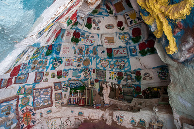 Details of Salvation Mountain in Salton Sea, California