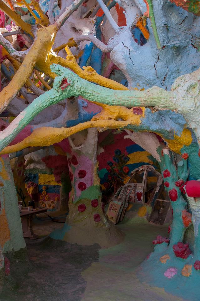 Art installation in Salvation Mountain in California