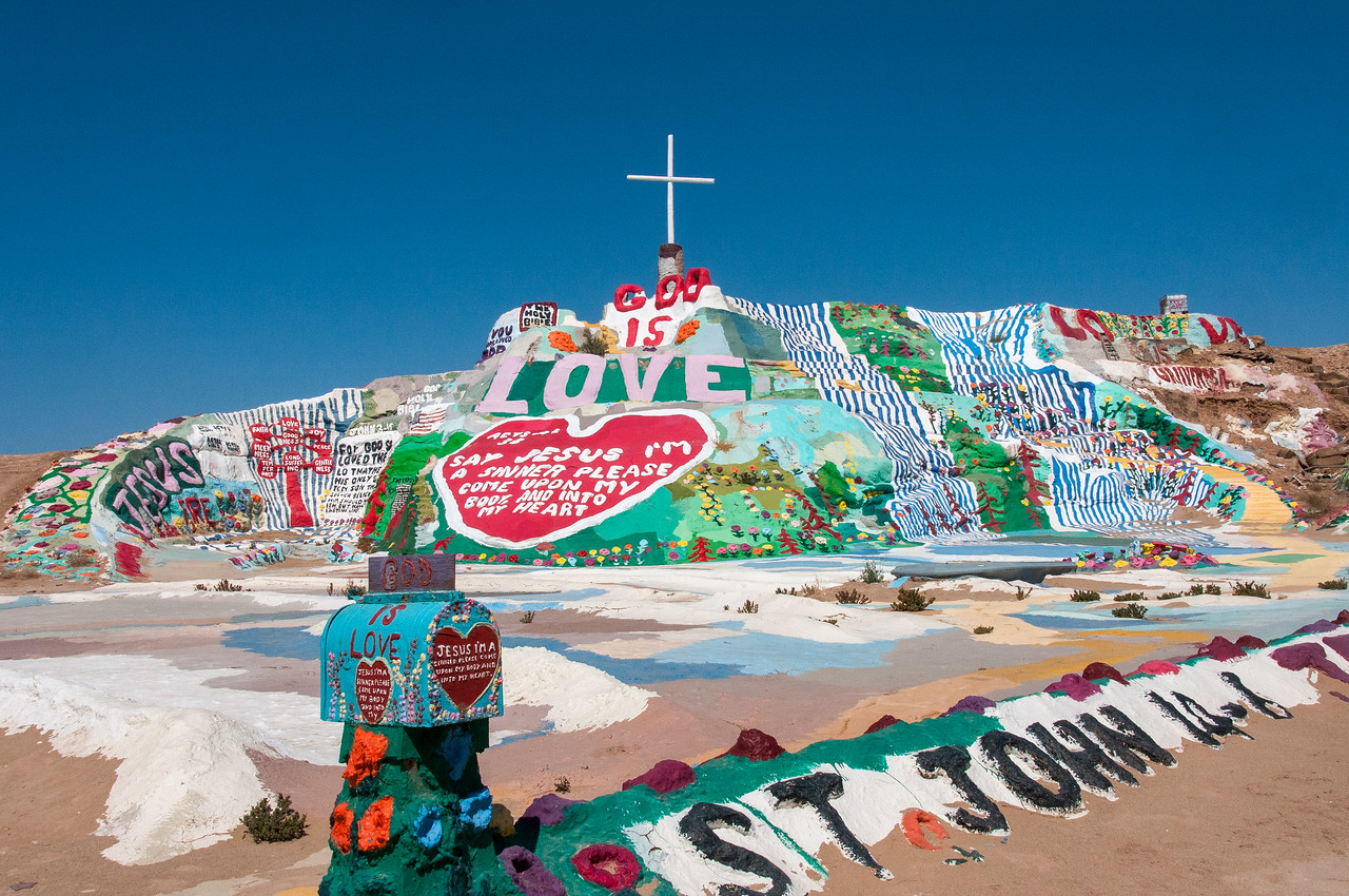 Salvation Mountain in Salton Sea, California