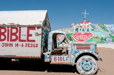Salvation Mountain in Colorado Desert, California