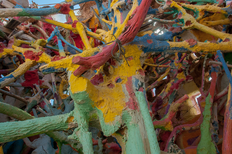 Details of Salvation Mountain in California