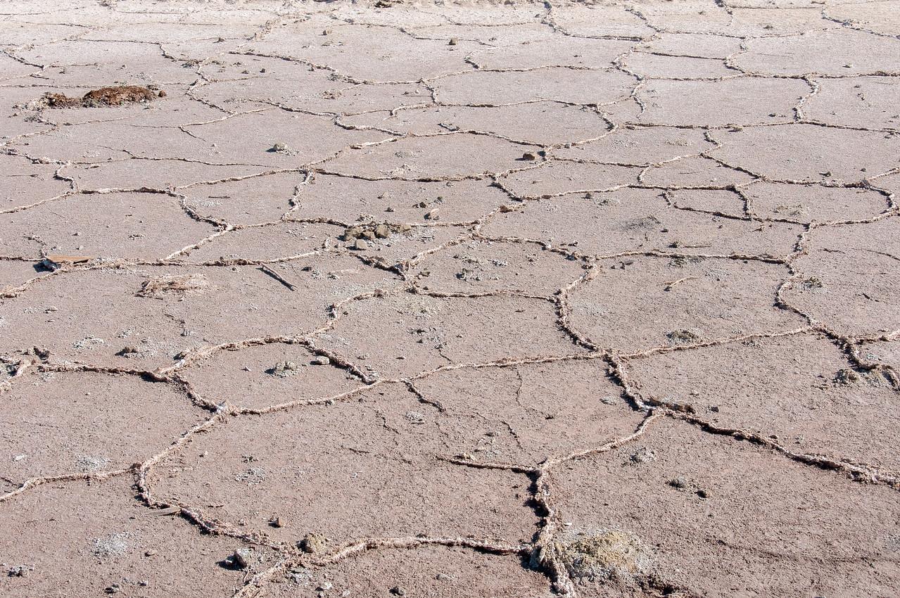 Dry bed of Salton Sea, California