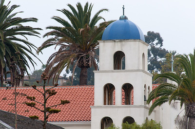 Church of the Immaculate Conception Bell Tower in Old Town San Diego