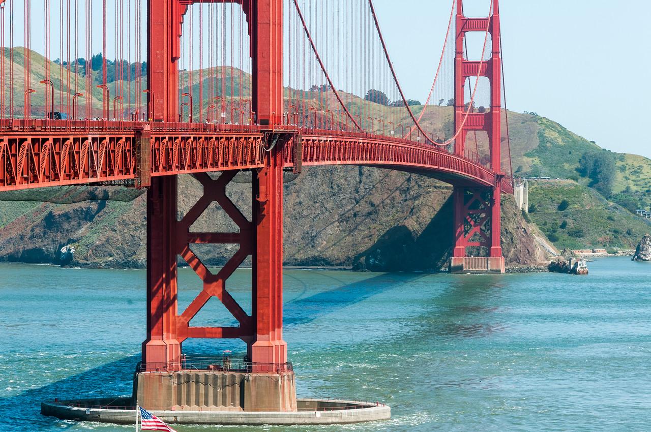 Golden Gate Bridge over San Francisco Bay in California