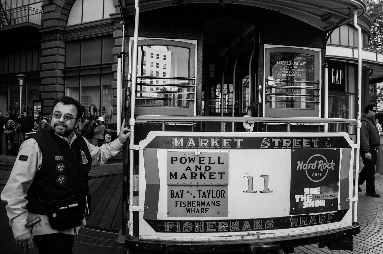 San Francisco Cable Car at Powell & Hyde Sts in San Francisco, California