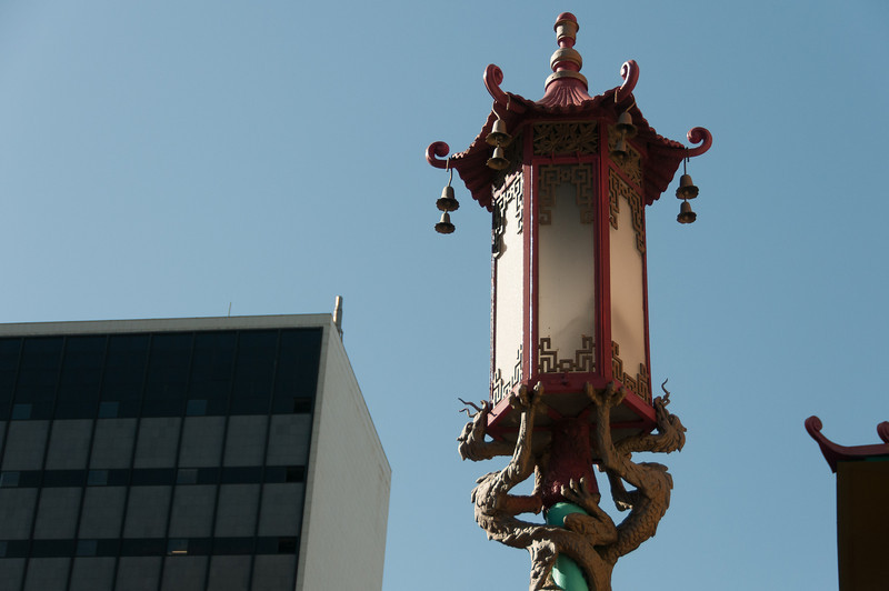 Traditional Chinese lamp in Chinatown, San Francisco, California