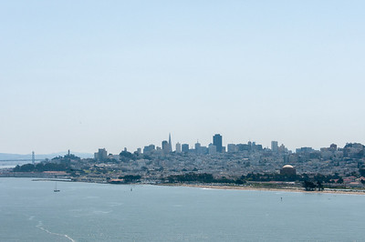 View of the San Francisco skyline from Golden Gate Bridge
