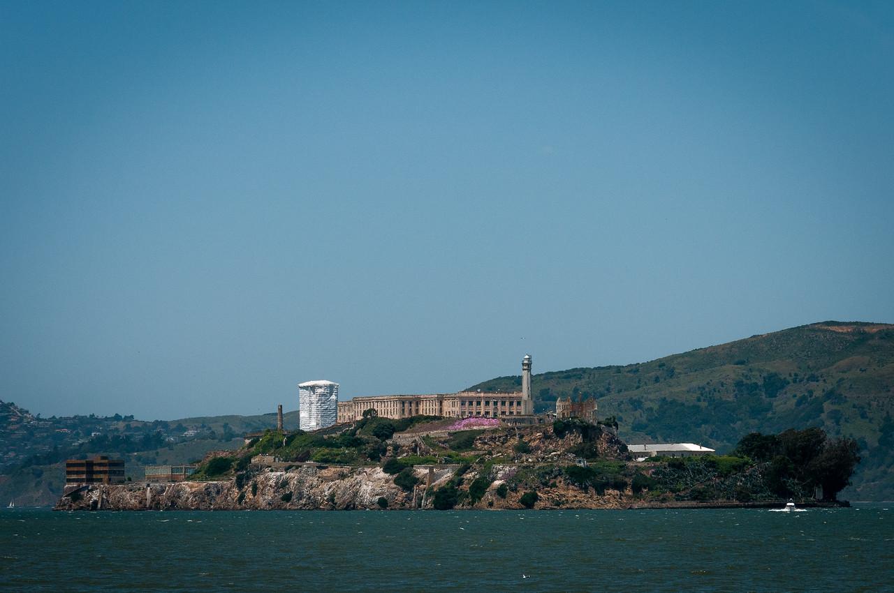 View of the Alcatraz Island in San Francisco, California