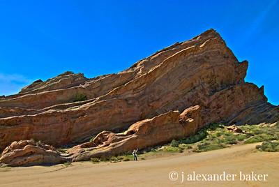 Vasquez Rocks Park - HDR - for scale see figure bottom center