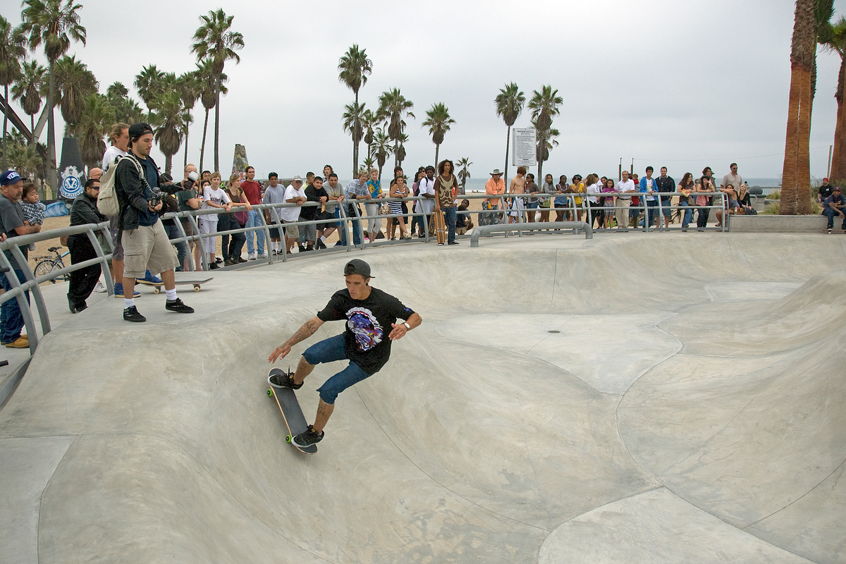 Skateboarder at Venice Beach, California