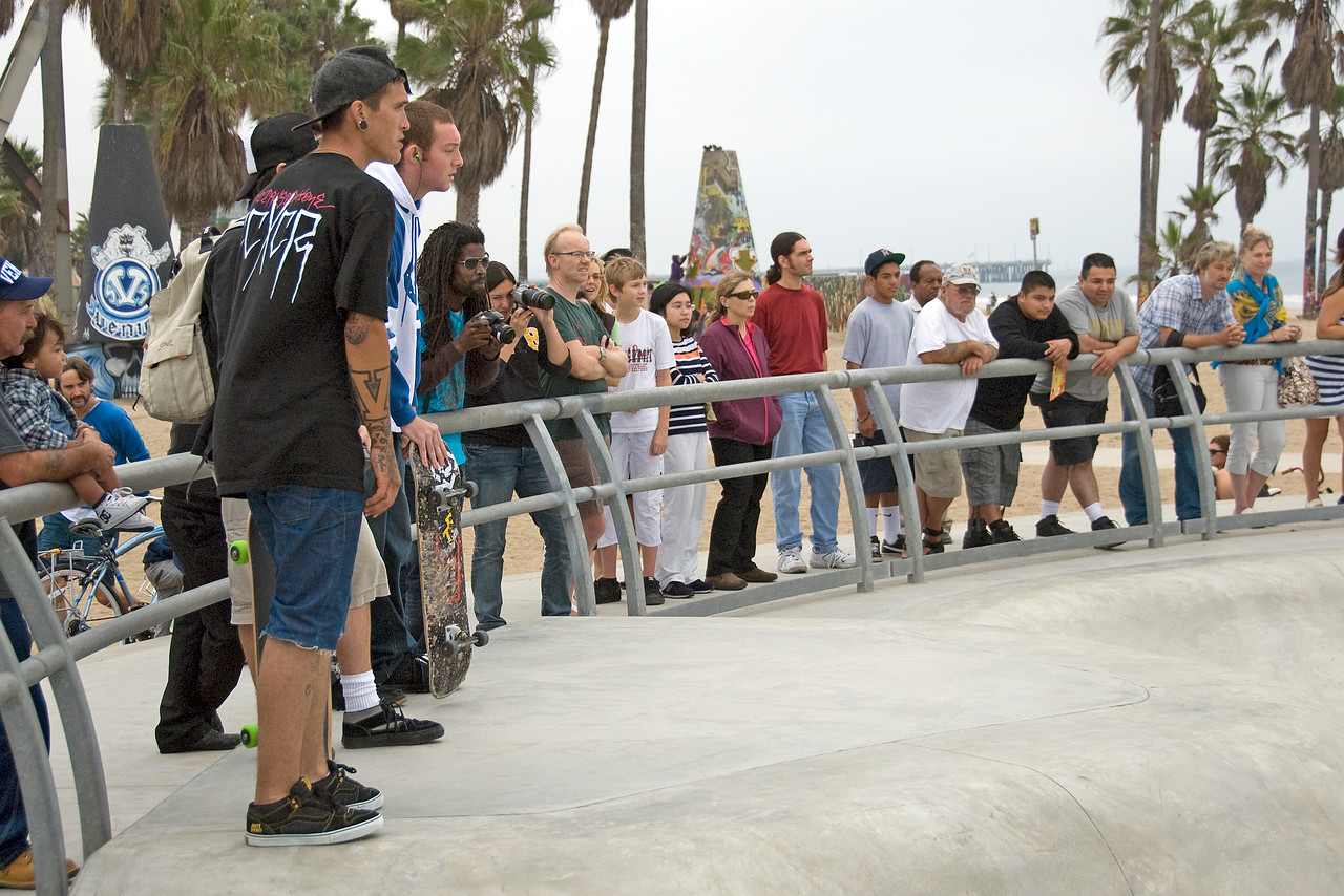 Ongoing exhibition at Venice Beach Skater Park in California