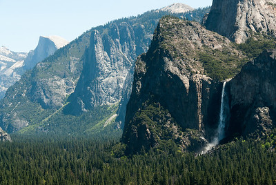 Bridalveil Fall in Yosemite Valley, California