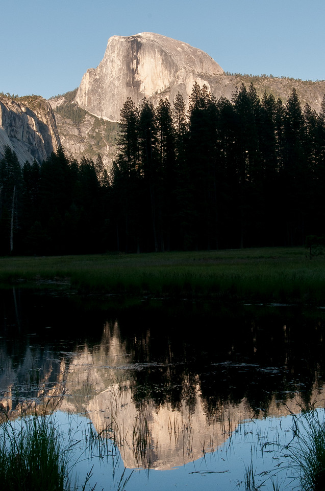 El Capitan from the Merced River meadows in Yosemite National Park