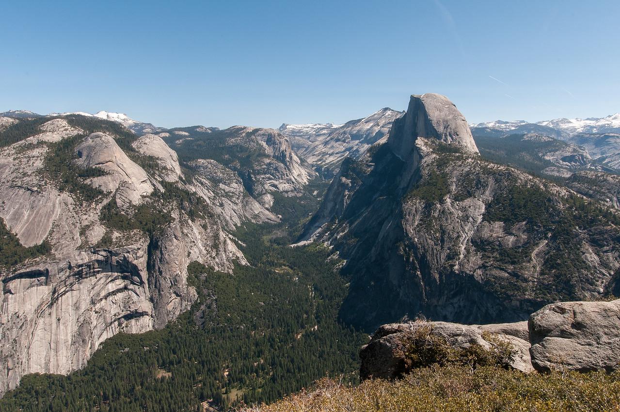 Tenaya Canyon and Half Dome as seen from Glacier Point, Yosemite National Park