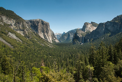 Yosemite Valley from Tunnel View - California