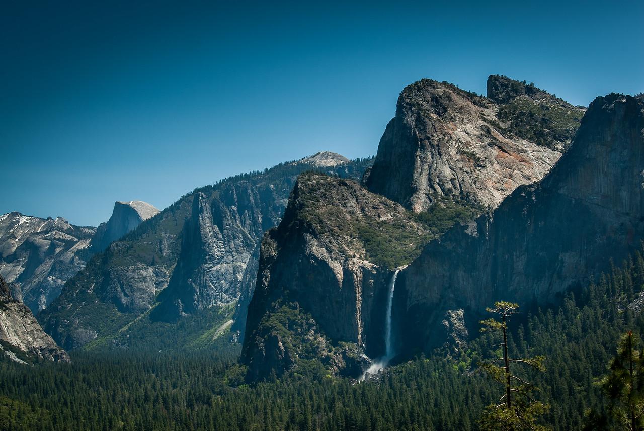 Bridalveil Fall and Yosemite Valley