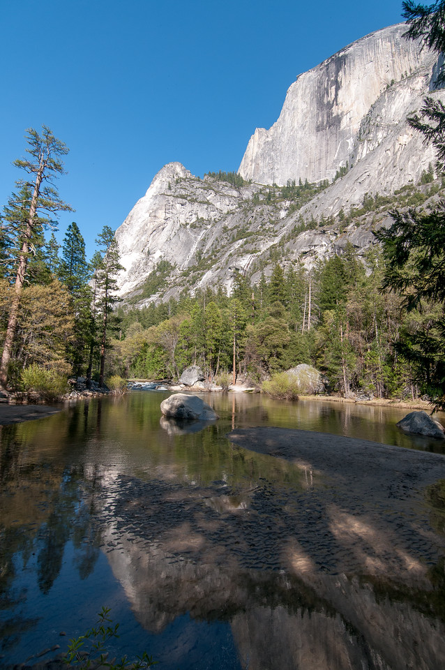 Merced River meadows and valley in Yosemite National Park