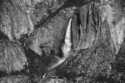 Yosemite Falls in B&W - California, USA