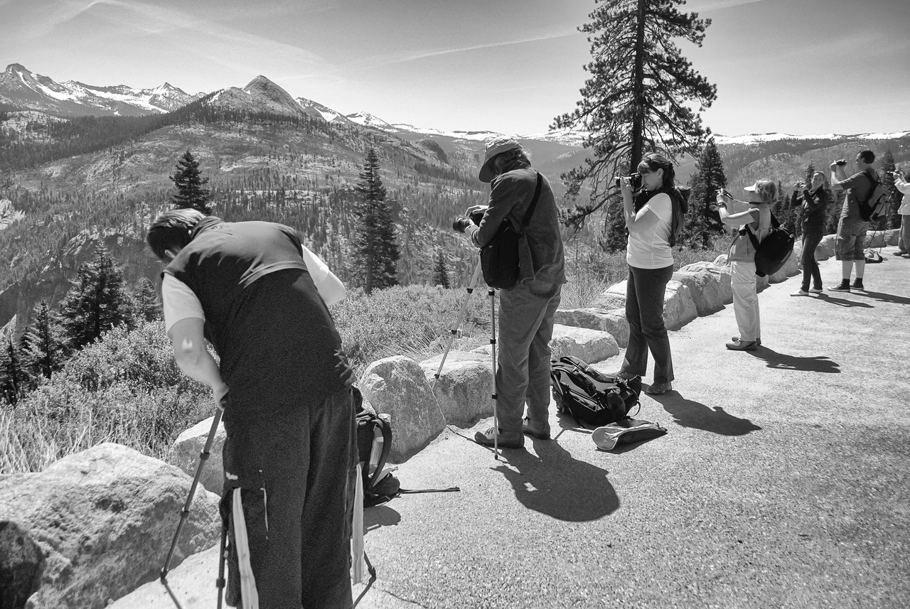 Photographers capturing Yosemite National Park in California