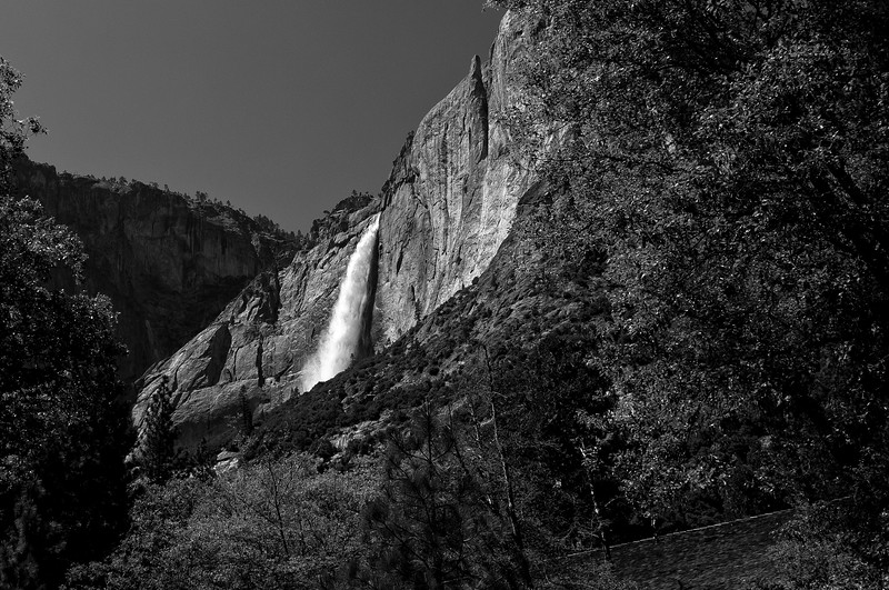 Yosemite Falls in B&W - Yosemite National Park, California