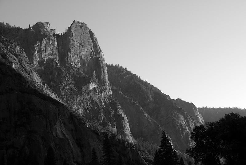 Yosemite National Park in B&W - California, USA