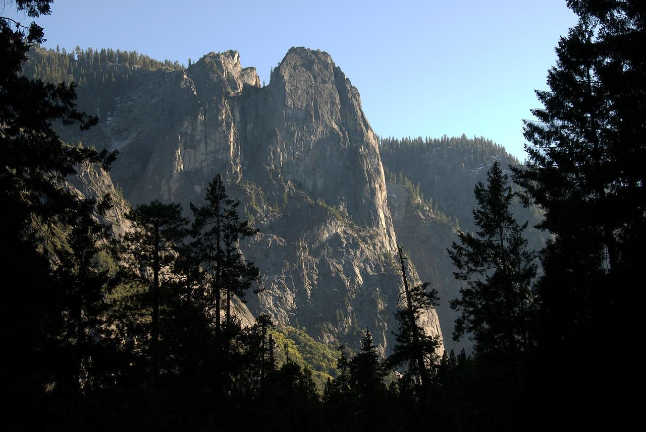 View of El Capitan in Yosemite Valley, Yosemite National Park in California