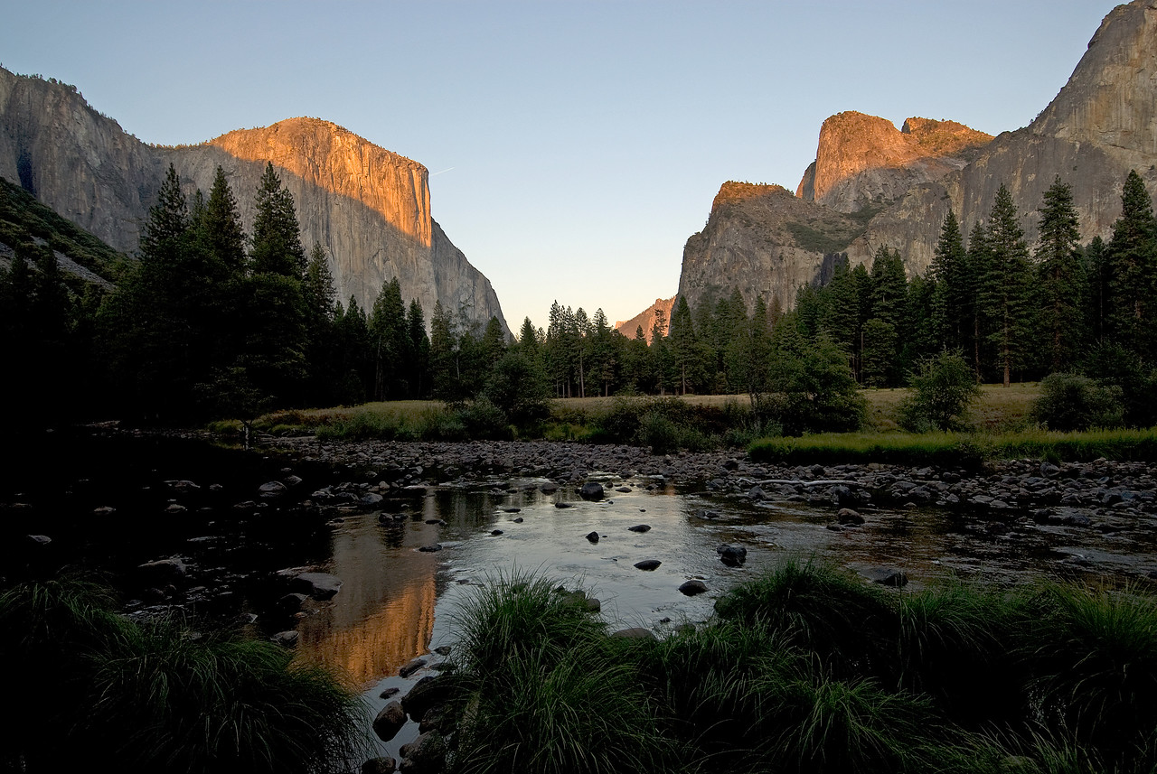 U-Shaped Valley in Yosemite National Park in California, USA