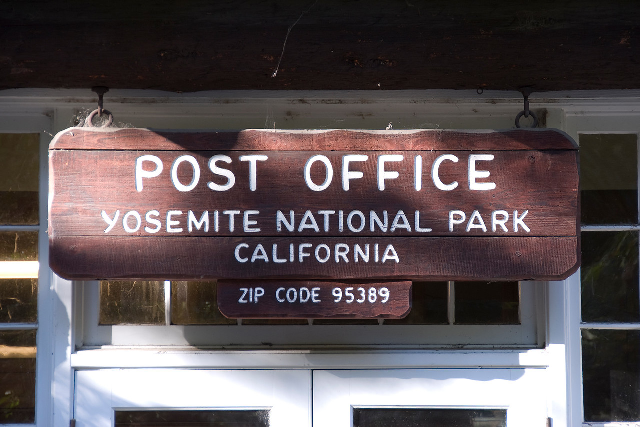 Post office at Yosemite National Park in California, USA