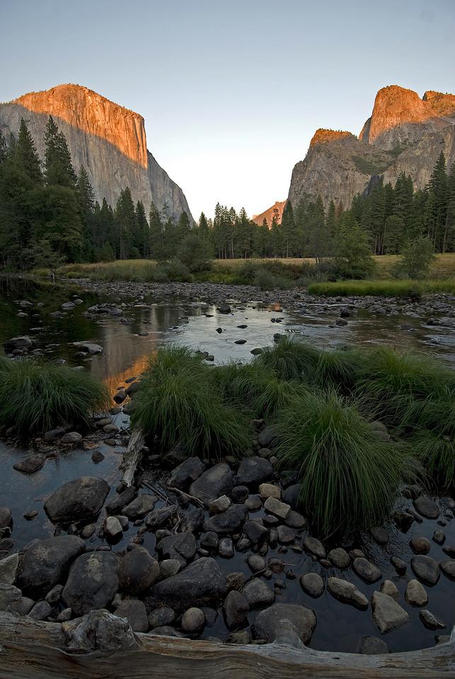 U-Shaped Valley in Yosemite National Park in California