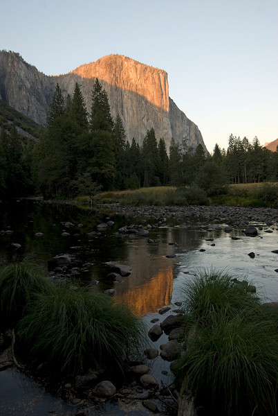 One side of the U-Shaped Valley in Yosemite National Park