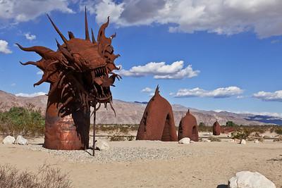 Anza-Borrego State Park, California A dragon sculpture on the Anza-Borrego desert.