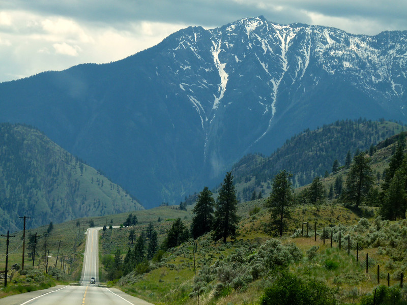 Road climbs into the mountains