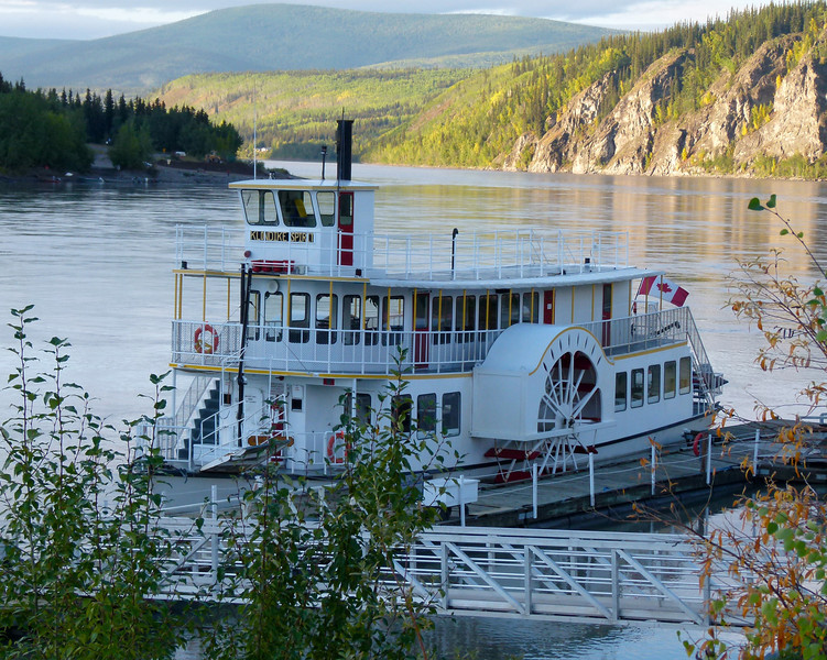 Riverboat on the Yukon River in Dawson City